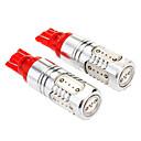 T10 7W 5-LED 290-330LM Red Light Car Reading / License Plate / Lamp (DC 12-24V, 2-Pack)