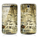 Retro Map Pattern Front and Back Protector Stickers for Samsung Galaxy Mega 6.3 I9200