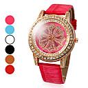 Women's Diamond Dial PU Analog Quartz Fashionable Wrist Watch (Assorted Colors)