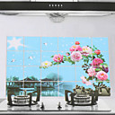 90x60cm Scenery Pattern Oil-Proof Water-Proof Kitchen Wall Sticker