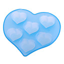 Heart Shaped Silicone Food Mold with 6 Lattices