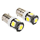 Bsx9s 2.5W 5x5060SMD 210-230LM 6000-6500K White Light LED Bulb for Car (DC 12V, 2-Pack)