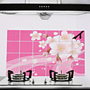 90x60cm Plum Blossom Pattern Oil-Proof Water-Proof Kitchen Wall Sticker