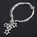 Z&X®  925 Sterling Silver Plated New Shrimp Buckle Perfect Stars Bracelet