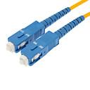 Fiber Optic Cable M/M SC/SC SM Multi Mode Duplex Cable 9/125 Type 3.0mm Yellow (3M)