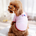 Dog Shirt / T-Shirt Blue / Black / White / Pink / Rose Dog Clothes Summer Bowknot