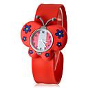 아이들의 3D 나비 모양 실리콘 악대 석영 아날로그 철석 때림 손목 시계