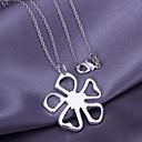 Silver Clover Copper Pendant Necklace