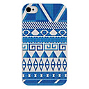 Blue Series Hand Paint Style Back Case for iPhone 4/4S