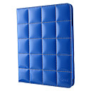 Blue Brilliant Lattice Design Cover 3 Position Protective PU Leather Case for iPad2/3/4