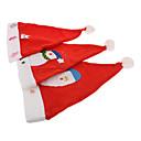 Толстые плюша Белый Брим 3 иная картина Рождество Hat для детей (случайным образом)
