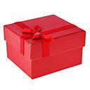 bowknot를 장식 간단한 스타일 큐빅 시계 상자 (분류 된 색깔)