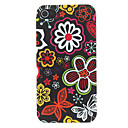 Various Flora in Black Background Pattern Matte Designed PC Hard Case for iPhone 4/4S