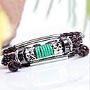 ZX Snake полосой Национального 24см мужские кожаные Серебристая Wrap браслет (1 шт)