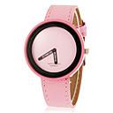Женская Круглый циферблат PU Группа Кварцевые аналоговые наручные часы