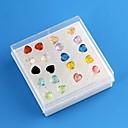 Женские Многие аспекты Любящее сердце Pattern аллергии Пластиковые серьги 10pais