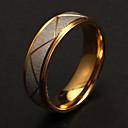 Классическая мода Серебряный обрезная Женская Золотые нержавеющая сталь Группа Кольца (1 шт)