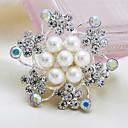 Серебряный позолоченный Перл брошь цветок