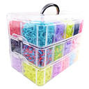 Rainbow Loom Big Size 3 Layers Multicolor DIY Rubber Band (12000 Pcs) And Connector