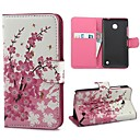 Mini Elegant Flower Pattern PU Leather Case with Stand and Card Slot for Nokia Lumia 630