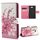 Mini Elegant Flower Pattern PU Leather Case with Magnetic Snap and Card Slot for Sony M2 (S50h)