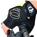 KORAMAN Men's Cycling Gloves Fingerless Black&Yellow Nylon Bike Bicycle Half Finger Cycling Gloves