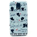 Music Cats Pattern Hard Case Cover for Samsung Galaxy S5 I9600