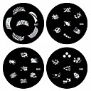 1PCS Nail Art Stamp Stamping Image Template Plate B Series NO.57-60(Assorted Pattern)