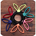 Fluorescent Candy Colored Chiffon Rabbit Ears Elastic Hair Ties