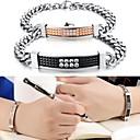 Fashion Ideas to Restore Ancient Ways Grid Titanium Set Auger Plating High-end Bracelet