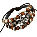 Beaded Leather Punk Bracelet  Christmas Gifts