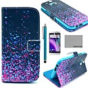 COCO FUN® Night Glowworm Pattern PU Leather Full Body Case with Screen Protector, Stylus and Stand for HTC One M8
