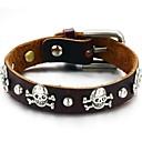 Personality Skulls Retro Leather Men's Bracelet