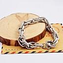 Fashion Men's Silver Multi-layer Twist Chain Stainless Steel Bracelets