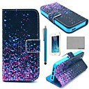 COCO FUN® Night Glowworm Pattern PU Leather Full Body Case with Film, Stand and Stylus for iPhone 5/5S