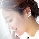 Earring Ear Cuffs Jewelry Party / Daily / Casual Alloy / Imitation Pearl / Rhinestone Gold / Transparent / White