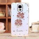 LUXURY Diamonds Кристалл Розовый Клевер обложка чехол для Samsung Galaxy S5 Mini