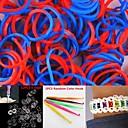 600PCS RedBlue 2-сегмента DIY Twistz Силиконовые резиновых полос для радужной Loom Браслеты с крючками-клипов