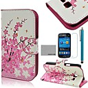 COCO FUN Флора цветочным узором PU кожаный чехол с защитой экрана и Стилус для Samsung Galaxy Trend Lite 7390/7392