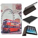 Колесо обозрения и кожаный чехол двухэтажный автобус PU с подставкой для IPad Mini / Mini 2