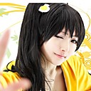 Bakemonogatari Карен Araragi черный парик косплей