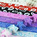 2 х 18 PCS Блеск порошок флуоресцентные эффект ПОЦЕЛУЙ Pattern Lucky Star Оригами материалы (Random Color)