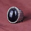 ZX Европейский Стиль Овальный черный камень Мужская себе кольцо