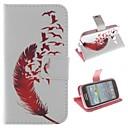 Red Feather Дизайн PU Кожа всего тела Защитный чехол с подставкой для Samsung Galaxy Core I8262
