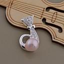 Новая мода подвеска Колье серебряные посеребренные Ницца Ожерелья AN1391