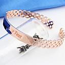 Персональный подарок 925 SterlingSilverRose золотой браслет LIWUYOU ™