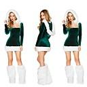 Темно-зеленый взрослый сексуальный Рождество женщины Костюм One Size