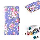 Цветы Pattern Кожа PU Полный чехол тело с пыле Разъем с карт памяти и ПОВ по iPhone 6 Plus
