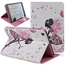Бабочка девушка инкрустированные Блестящий Блеск Алмазный PU Флип Защитная крышка чехол с подставкой для IPad Mini 2