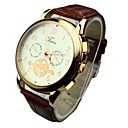 Мужская Круглый циферблат PU Группа Кварцевые аналоговые наручные часы (разных цветов)